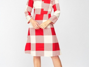 Checkered A-Line Dress dress