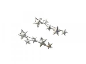 Stars Ear Climber Silver ear climber