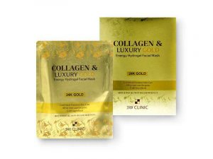 3W CLINIC Collagen & Luxury Gold Energy Hydrogel Facial Mask 8 3w clinic
