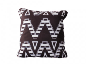 Ingo Shanyenge African Print Cushion Cover Brown White Ingo Shanyenge