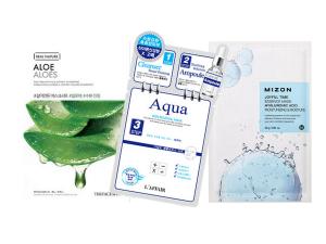 Hydrating Face Mask Bundle- 3 Mixed Sheet Masks 10 hydrating face mask bundle