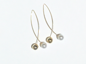 Minimal Cross Ball Earrings Gold 8 zimolange