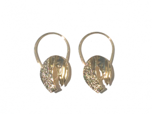 Trendy Oversized Hammered Gold Hoop Earrings 4