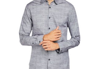 Men's Grey Cotton Shirt