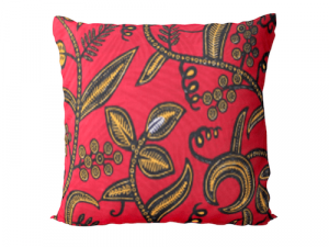Ingo Shanyenge African Print Cushion Cover Floral Red Ingo Shanyenge