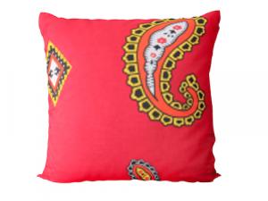 Ingo Shanyenge African Print Cushion Cover Red Seed Ingo Shanyenge