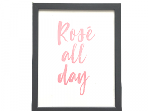 rose all day poster with frame