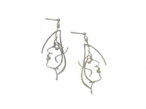 Face Art Earrings Long fashion
