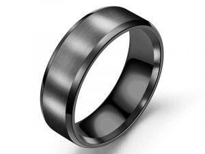 Classic Men's Band Ring Black 6 men's band ring