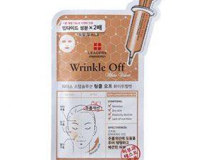 LEADERS Step Solution Wrinkle Off White Velvet Mask