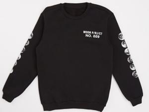 Men's Moon Print Sweatshirt