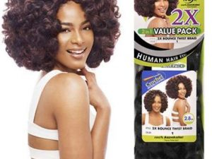 JANET Collection Crochet Braids Noir 2X Bounce Twist Braid  Value Pack 4 janet collection