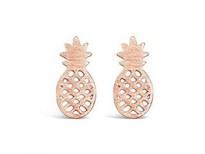 Pineapple Earrings Rose Gold 6 pineapple earrings