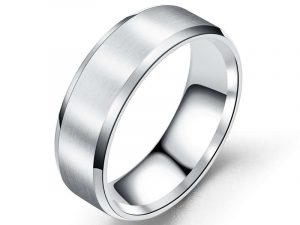 Classic Men's Ring Band Silver 8 band ring