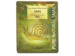 The Saem Pure Natural Snail Mask Sheet snail