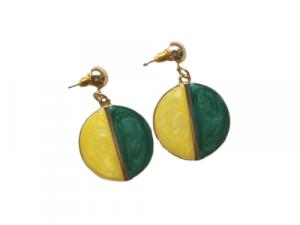 Statement Drop Earrings in Yellow Green drop earrings